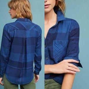 Anthropologie Cloth & Stone Mireille Plaid Shirt